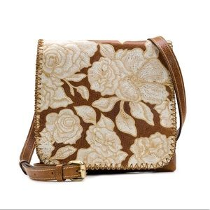 🌟Patricia Nash Crossbody bag:Natural Embroidery